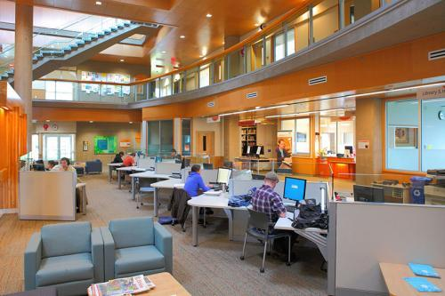 Learning commons area at Cowichan campus.