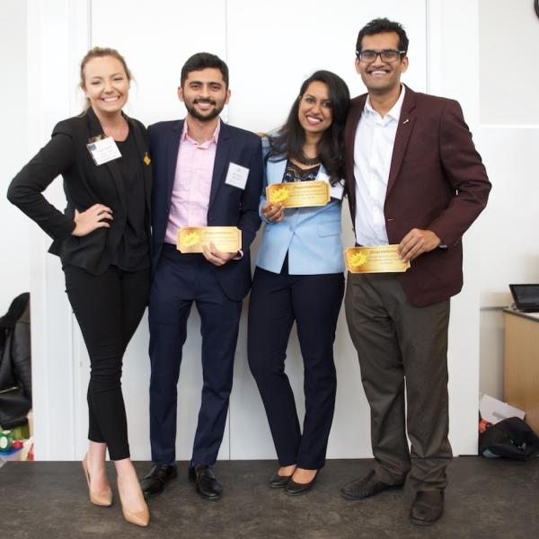 The four FAB 40 golden ticket winners at the 2019 Multicultural Tea