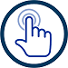 Click here pointing finger icon