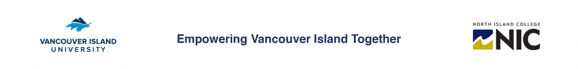 "VIU and NIC logos plus the tagline ""Empowering Vancouver Island Together"""
